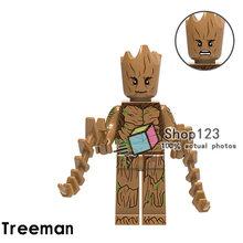 Super-heróis Blocos Marvel Super Heroes Avengers Homem Árvore Thanos Dr. Estranho Brinquedos para As Crianças(China)
