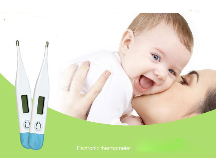 Hot Free shipping Digital LCD Heating Baby Mercury free Thermometer Kids Baby Child Adult Body Temperature Measurement(China (Mainland))