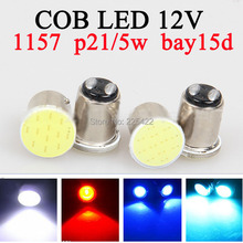 10x P21/5W led 1157 bay15d COB 12v canbus red   Auto Car RV reactive Bulbs rear Turn signal lamp Brake Parking lights