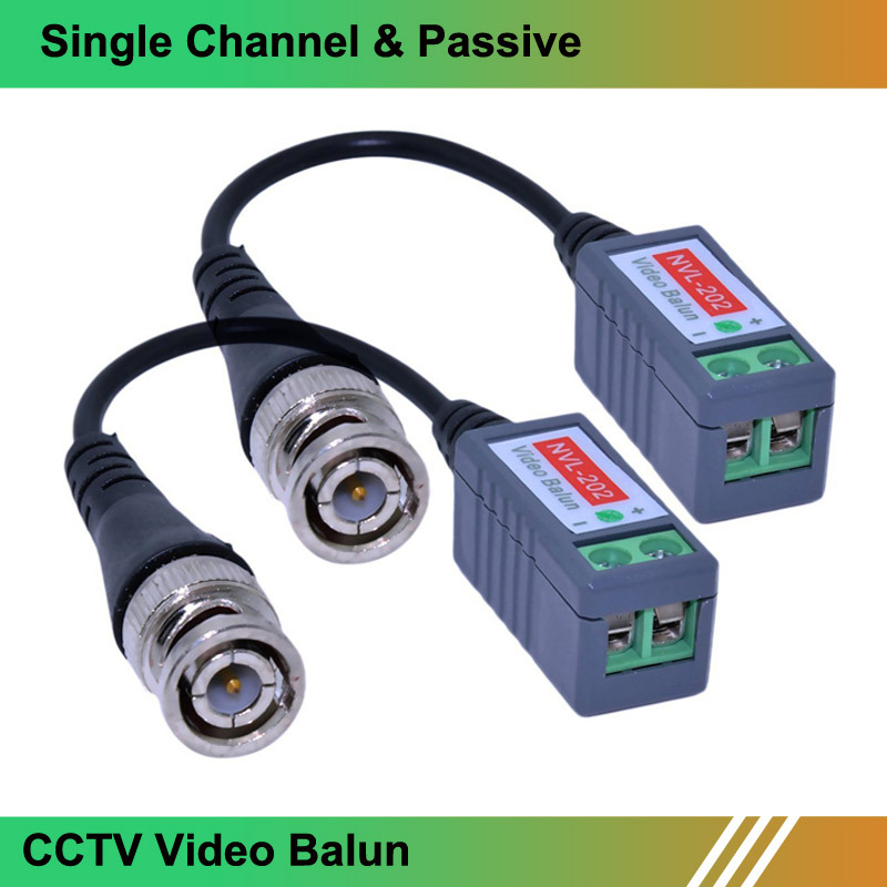 10 Pairs Twisted BNC Video Balun passive Transceivers UTP Balun BNC Cat5 CCTV UTP Video Balun up to 3000ft Range(China (Mainland))