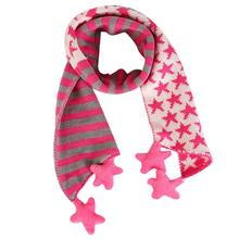 Delicate winter kids scarf Children Christmas Classical Five Pointed Star Knit Scarf nor5924 P14