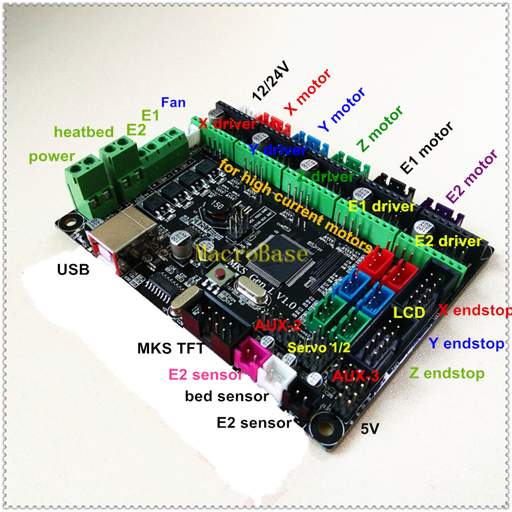 Makerbase Mks Gen L V1 0 3d Printer Card Control Mainboard