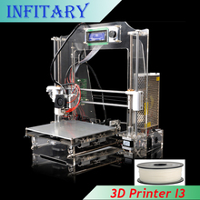 2016 LCD DIY Reprap Prusa i3 3d Metal Printer 200*200*210mm 3d-Printer 3d Printer Kit With 20M Filament 8GB SD Card For Free