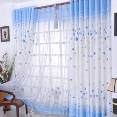 Child curtain rustic fabric fluid cartoon High-grade modern ready made Custom children star curtain for bedroom curtain(China (Mainland))
