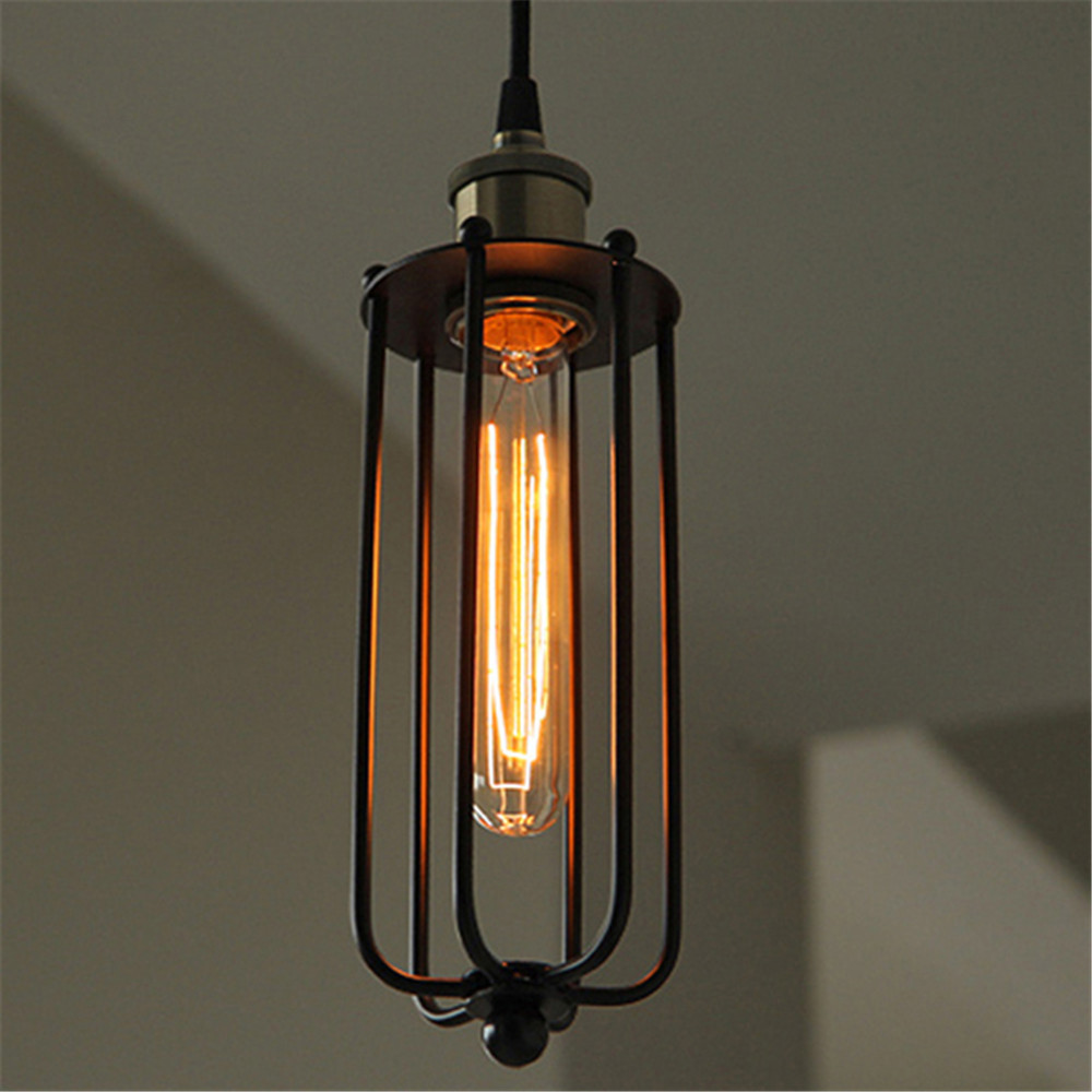 Free shipping retro loft american style 4inch for Long ceiling light fixture
