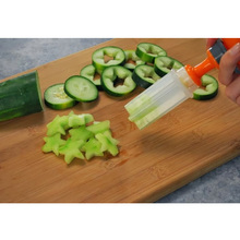 Fashion Hot Creative Kitchen Accessories Cooking Tools Plastic Fruit Shape Cutter Slicer Veggie Food Decorator Fruit Cutter