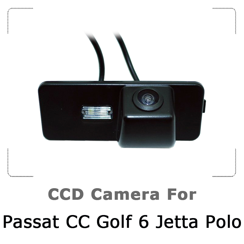 Car Rear view Camera For VW Passat CC Golf 6 Polo New Jetta with CCD Sensor, Waterproof, 170 degree Night Vision, Free Shipping(China (Mainland))