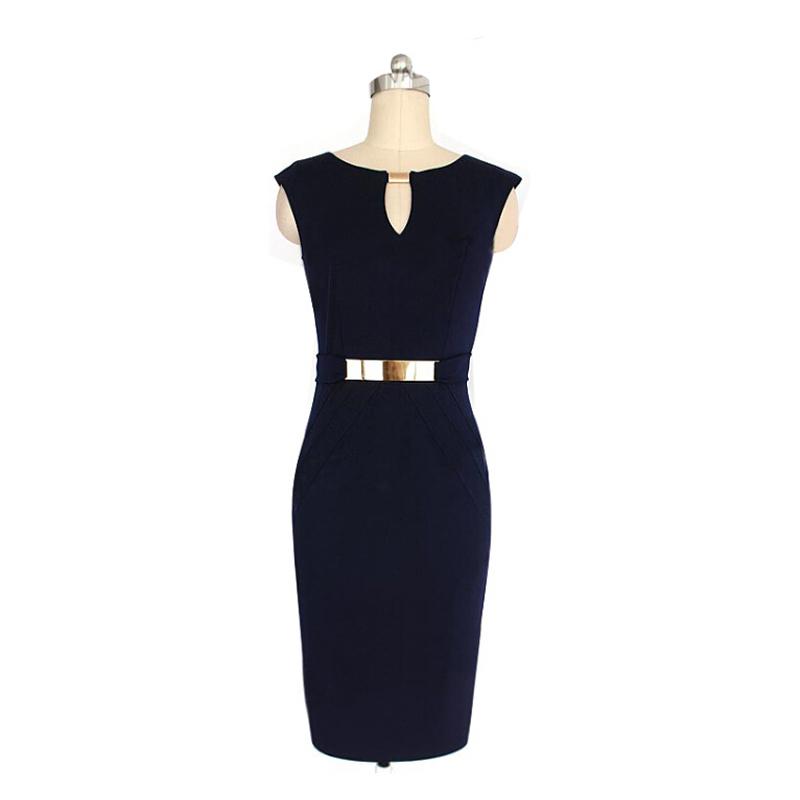 Women's clothing Specials eBay small v-neck slim bodycon dresses pencil sheath sleeveless dress outline(China (Mainland))