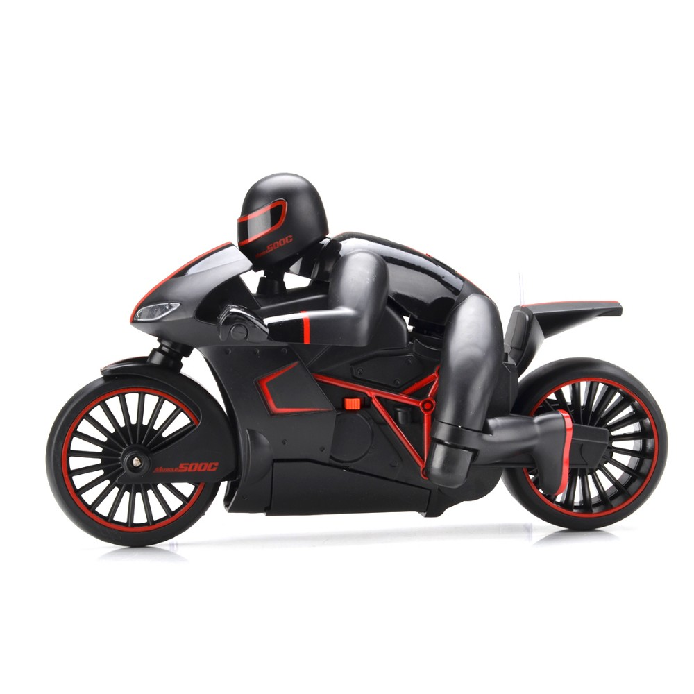 E-top RC motorcycle 4CH 2.4G high speed drift stunt Remote control children's toy with rubber wearproof tyre and Led light