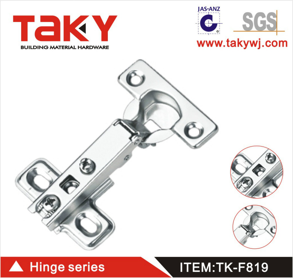 TK-F819 slide on self closing concealed one way hinge for furniture cabinet(China (Mainland))