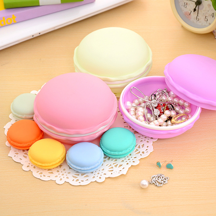 Mini Cute Macaron Storage Box Bin Candy Color Organizer For Jewelry Gift Novelty Households Storage Bag Free Shipping(China (Mainland))