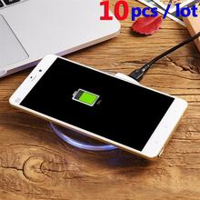 Buy 10PCS Wireless Charger Micro USB Fast Charging Android Phone Fashion Round Clear Indicator Light Adapter Receptor for $30.83 in AliExpress store