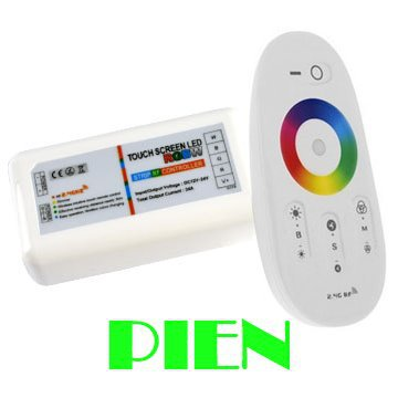 RGBW RF led controller 2.4G touch screen 18A DC12-24A remote control for RGB+White led strip/bulb CE&ROHS by DHL 10pcs(China (Mainland))