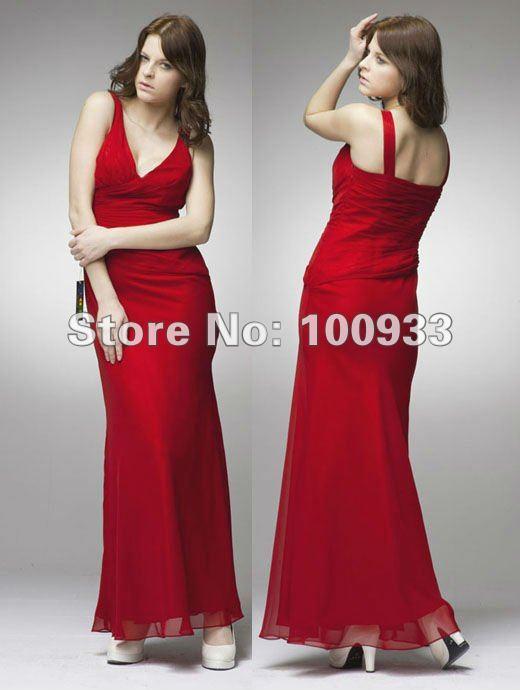 Free shipping long bridesmaid dress 2015,uniqe warm red mermaid bridesmaid chiffon dresses,spring summer style,in stock,BR15007(China (Mainland))