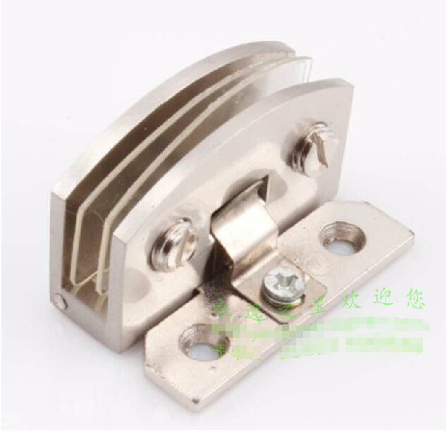 zinc alloy glass door hinge thicken 90 degrees for cabinet case drawbench surface top quality free shipping(China (Mainland))