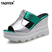 Buy TAOFFEN Women Wedges Sandals High Heels Shoes Women Platform Summer Sandal Slippers Casual Fashion Lady Footwears Size 34-39 for $32.64 in AliExpress store