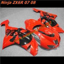 100%High quality Body Kit For Kawasaki Ninja ZX6R ZX6R ZX636 636 2007 2008 07 08 Injection mold Plastic Body Set,tool parts(China (Mainland))