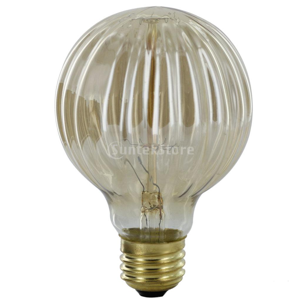 New arrivals 2015 e27 220 240v edison tungsten filament vintage light bulb g80 threaded shaped Tungsten light bulbs