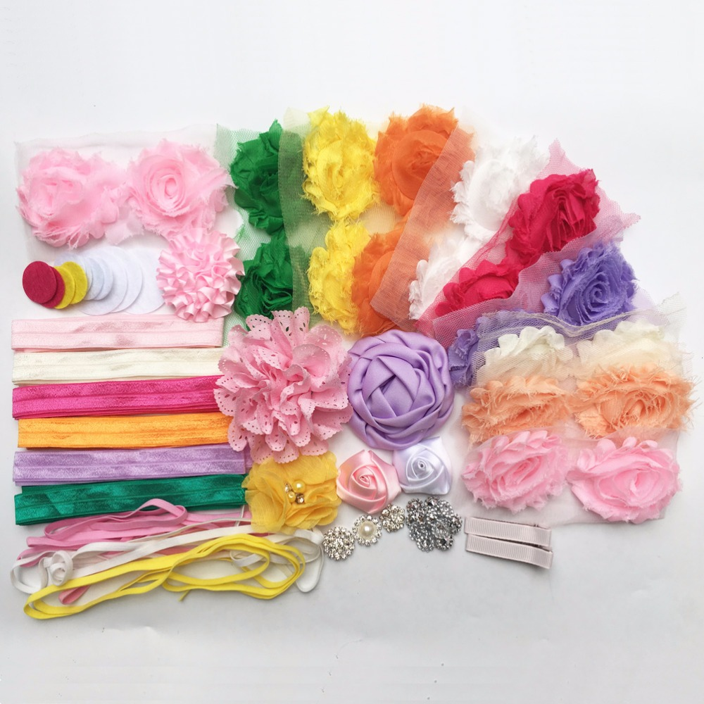 Make 32 Headbands Fashion Headband Kit Baby Shower Games DIY Hair Bow Maker