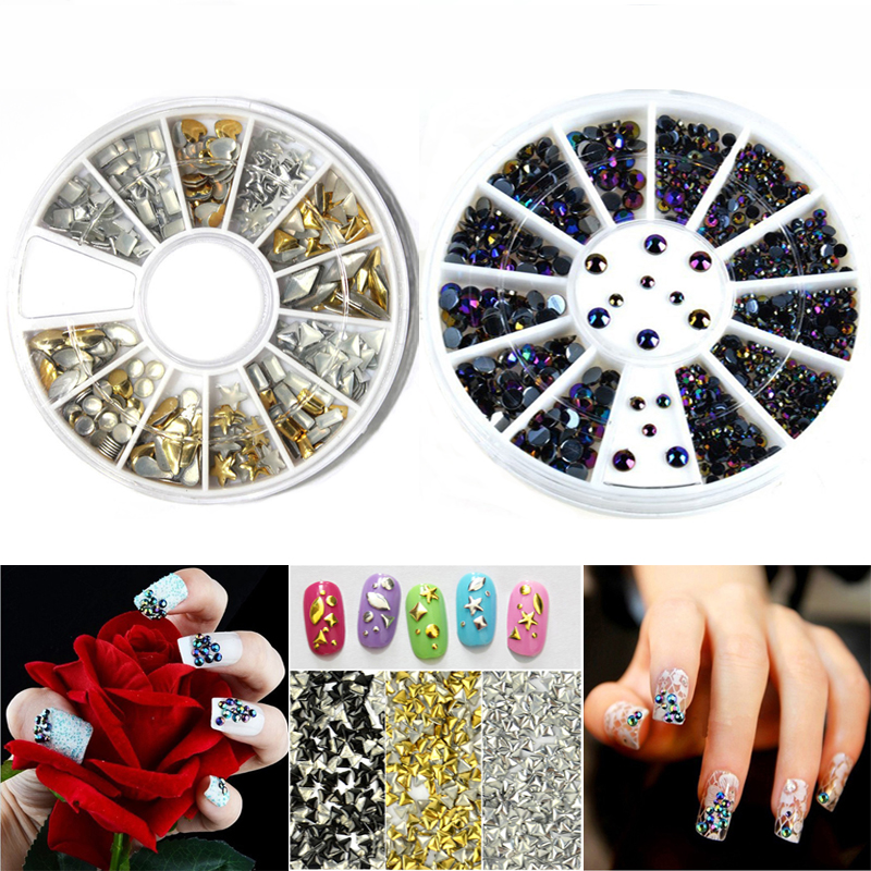 2pcs Beauty 3d Nails Charms Jewelry Nail Design Rhinestone For Nail Art Wheel Manicure Tools Nails Decoration Accessoires(China (Mainland))