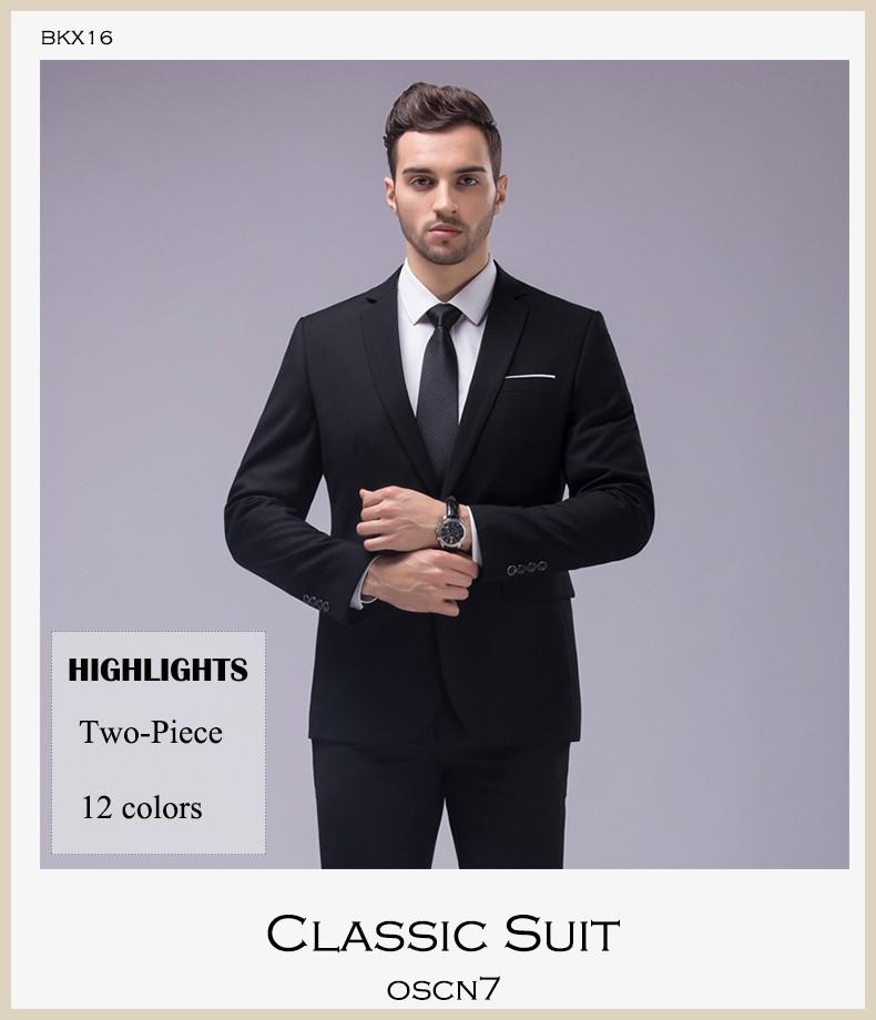 HTB1X7DCOVXXXXaoXVXXq6xXFXXXz - OSCN7 12 Color 2pcs Slim Fit Suits Men Notch Lapel Business Wedding Groom Leisure Tuxedo 2017 Latest Coat Pant Designs S-4XL