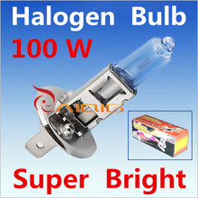 Car Light Source 2pcs H1 Super Bright White Fog Halogen Bulb  100W Car Headlight Lamp Extemal headlight auto parts promotion