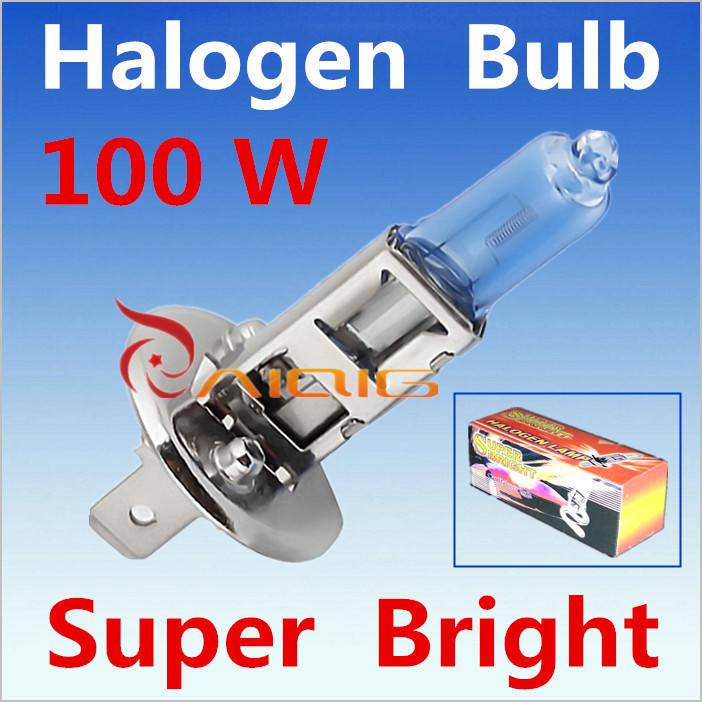 2pcs H1 100W 12V Halogen Bulb Super Xenon White Fog Lights High Power Car Headlight Lamp Car Light Source parking 6000K(China (Mainland))