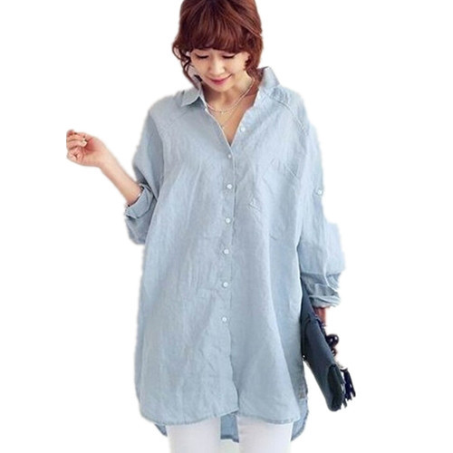 Ladies white linen blouses long blouse with pants for White linen ladies shirt