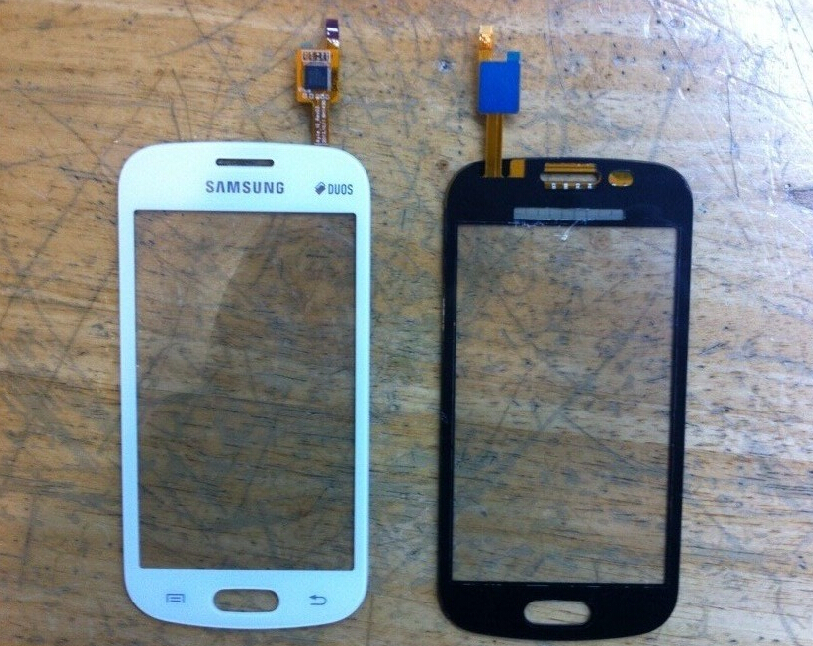for Samsung Trend Lite s7390 touch screen s7390 glass lens s7392 touch s7390 outter Panel S7392 Front digitizer WHITE or BLACK