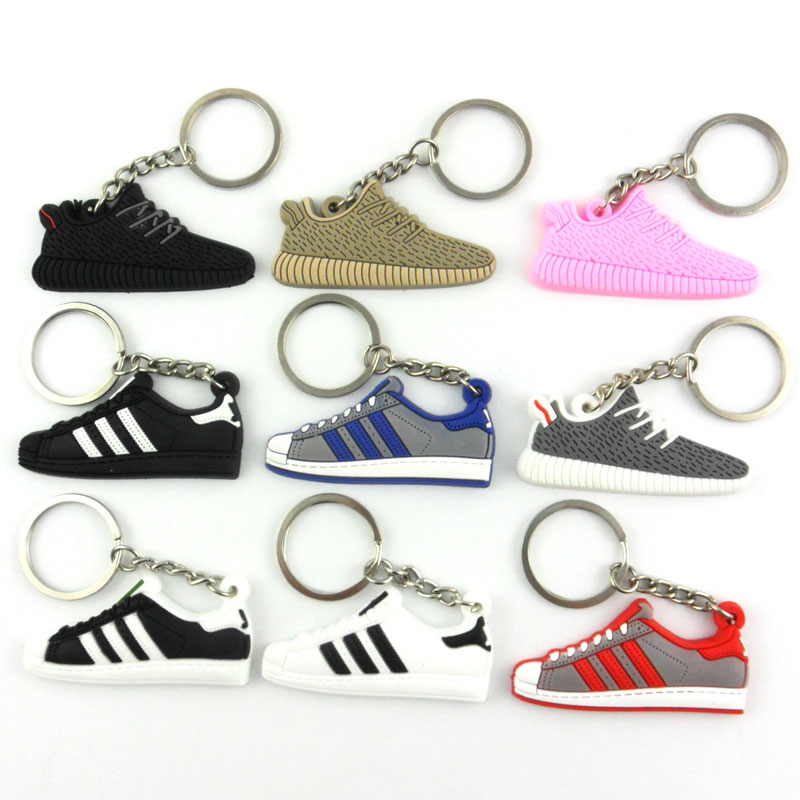 Cute Silicone Yeezys 750 Yeezy 350 Boost Keychain Jordan Key Chains Sneaker Key Rings Holder Kids Llaveros Chaveiro Porte Clef(China (Mainland))
