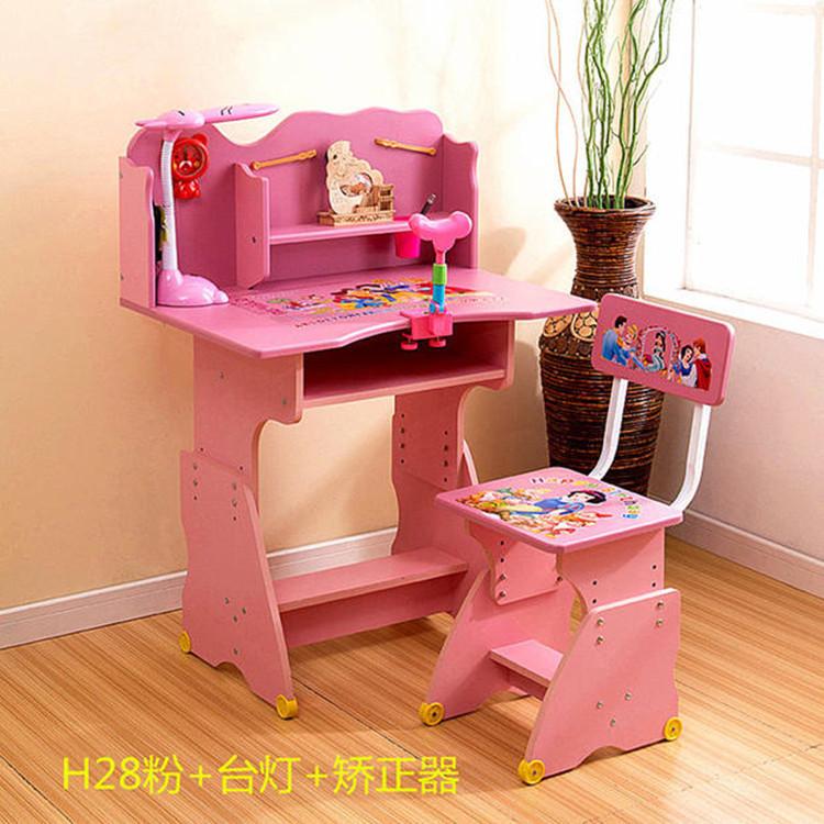 Solid wood Children Furniture Sets Children Furniture children study desk &chair&bookcase sets pink blue kaki(China (Mainland))