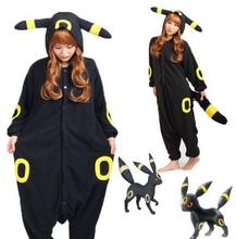 New Kigurumi Pokemon Go Umbreon Romper Fleece Pajamas Cosplay Costume Animal Onesie Sleepwear