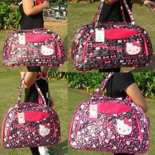 Wholesale& Retail Travel bag luggage laptop bag One Shoulder Cross Body Bag hello Kitty bag large loading capacity Free Shipping(China (Mainland))