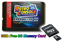 SEGA GENESIS MegaDrive(MD) EDMD Game Cartridge with 8GB Memory card, USA, Japan and Euro game card shell(China (Mainland))