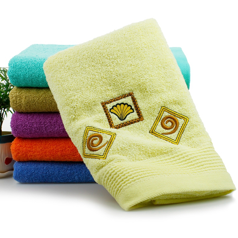 2016 hot sale cotton solid bath towel with embroidery fluffy soft touch quick dry towels for. Black Bedroom Furniture Sets. Home Design Ideas