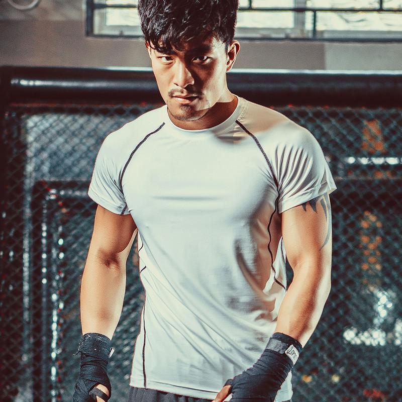 M-XXL Men Boxing Jerseys MMA Fight Tiger Muay Thai T shirt MMA Jersey Sport Top Tee Custom Wrestling Singlets(China (Mainland))