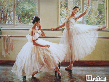 Canvas Prints by Chinese artists printed ballet dance oil painting giclee prints on canvas 10-rw-1 (10)