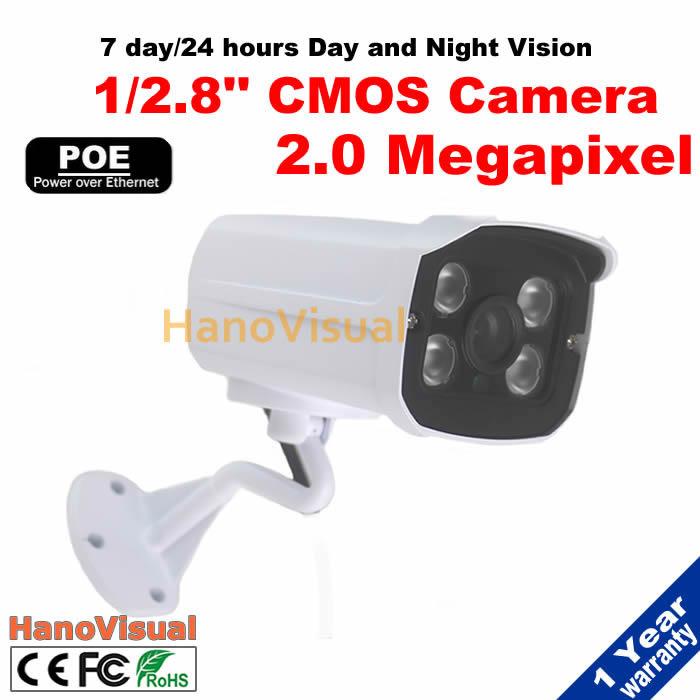 "High Resolution 2MP 1/2.8"" SONY Exmor IMX222 CMOS Sensor 1920x1080 Resolution POE IP Camera Waterproof Network POE CCTV Camera(China (Mainland))"