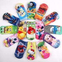 2015 3D Printed Brand Socks For Baby 6Pairs/lot High Quality Full Cotton Cartoon Children Socks Boys Girls Kids Ankle Socks(China (Mainland))