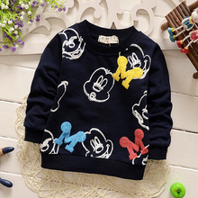 baby boy clothes 2016 new spring long sleeve Mickey boys hoodies child fashion outerwear Sweatshirts kids coat free shipping(China (Mainland))