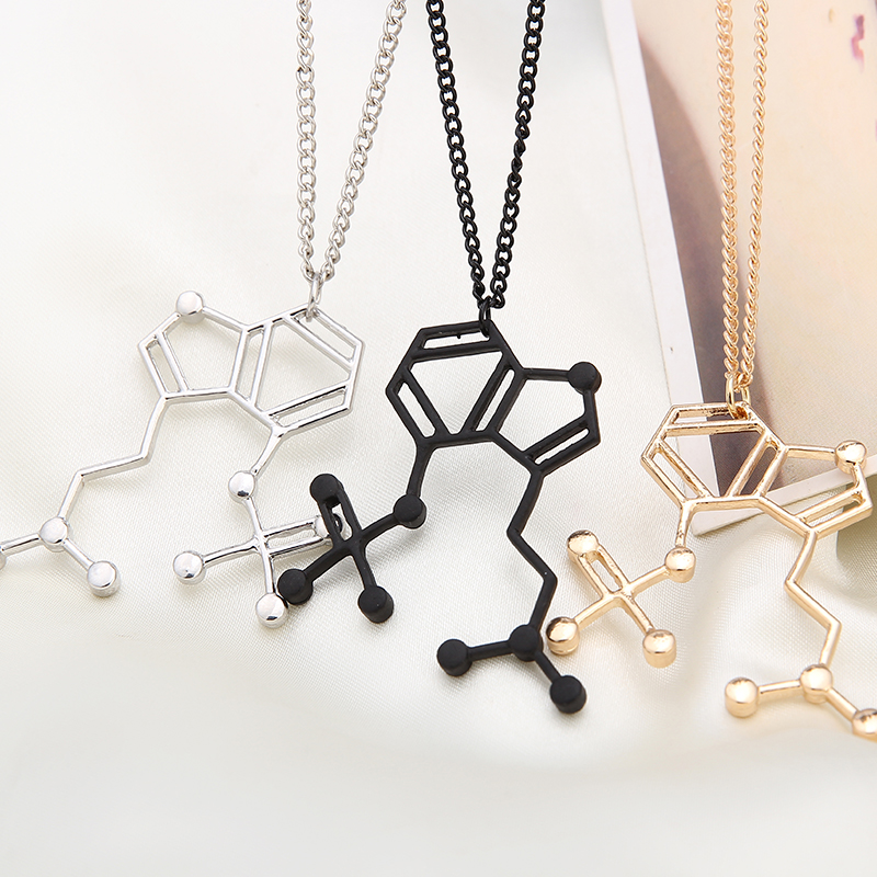 Hoffman Molecule Necklace Pendant Festival Goa Trance Psy Chemical Jewelry Gift Present Personalized Jewelry Necklaces for Women(China (Mainland))