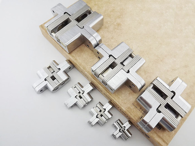 Stainless Steel Door Hinge New Stock With Screws Concealed Invisible