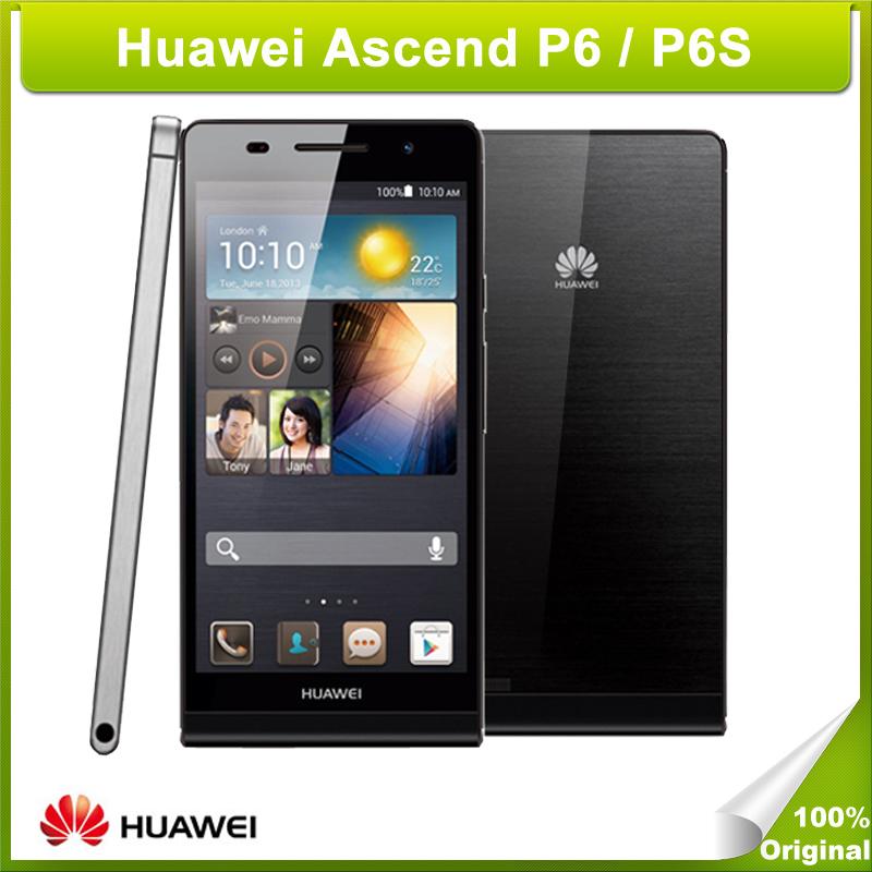 Original Huawei Ascend P6/P6S 4.7 inch K3V2E Quad Core1.5GHz Android 4.2 RAM 2GB ROM 8GB WCDMA GSM 2000mAh Battery 8.0 MP Camera(China (Mainland))
