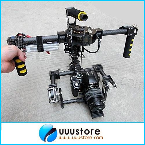 Ipower 3 Axis Gimbal 3-Axis DSLR Handle Carbon Brushless Gimbal w/Motors & Controller joystick Assembled RTU Free shiping