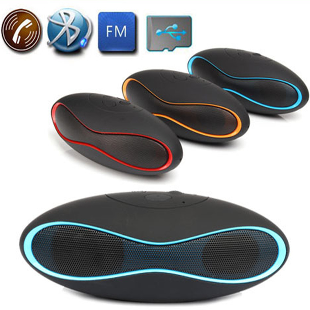 X6u Rugby Mini Wireless Bluetooth Speaker Super Portable HIFI Bass Audio Boombox Music Player Support TF Card FM Radio For Phone(China (Mainland))