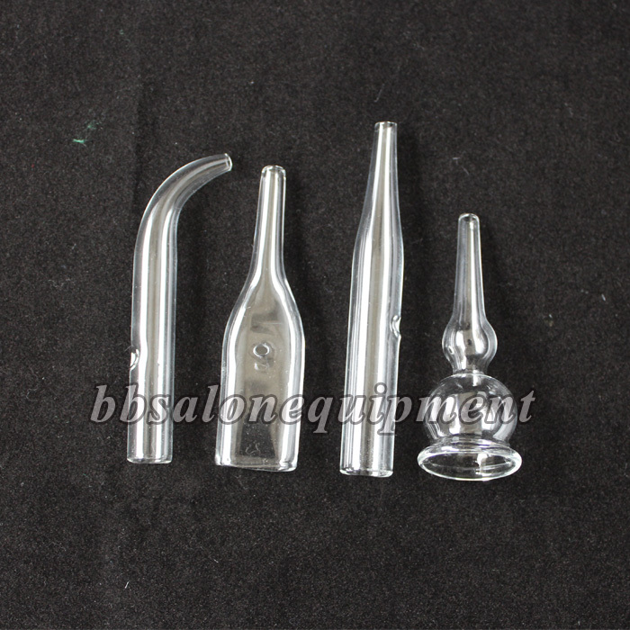 4 Pieces / Set 3 Sets / Lot Ventouse Attachment Glass Tube For Use With Vacuum Spray Facial Beauty Machine(China (Mainland))