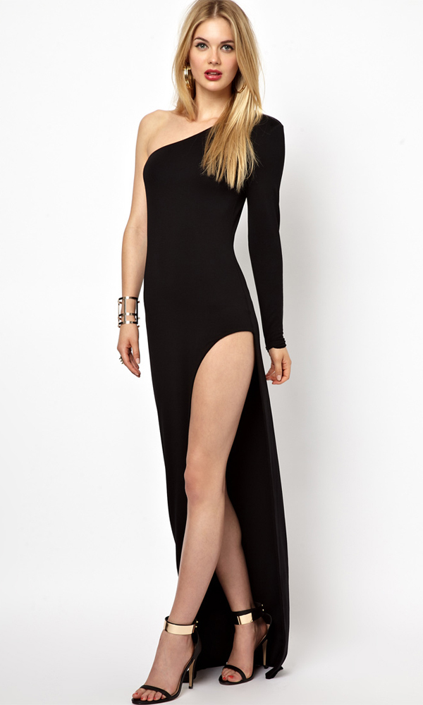 hot womens sexy off shoulder long maxi dress with cut out ...