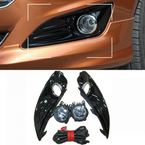 1Set Replacement Front Driving/Fog Lights lamp with cover & harness kit Highlight for Ford Fiesta 2013(China (Mainland))