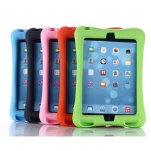 New arrival Rubber Case for Apple ipad mini 4 full body protective silicone tablet PC Cover with kickstand silicon shell coque(China (Mainland))