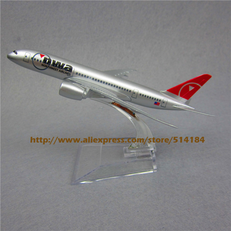 16cm Alloy Metal Air American NWA Airlines Airplane Model Boeing 787 B787 Airways Plane Model w Stand Aircraft Toy Gift(China (Mainland))